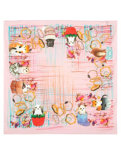 Foulard en coton ''Cute animals''