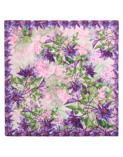 Silk shawl ''Gentian violet''