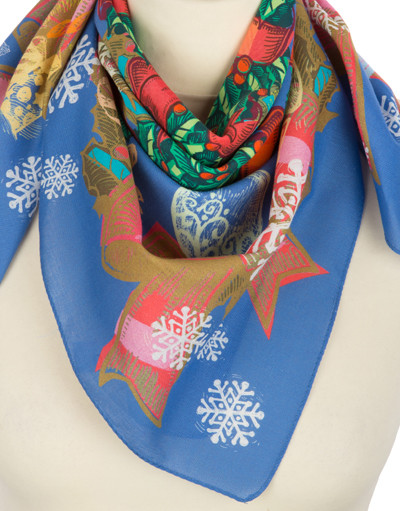 Cotton head scarf ''Merry Christmas''