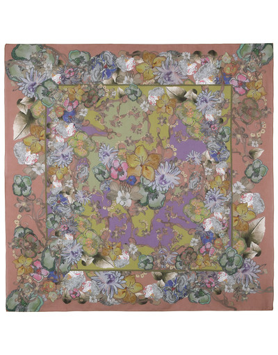 Cotton shawl ''Flower Symphony''