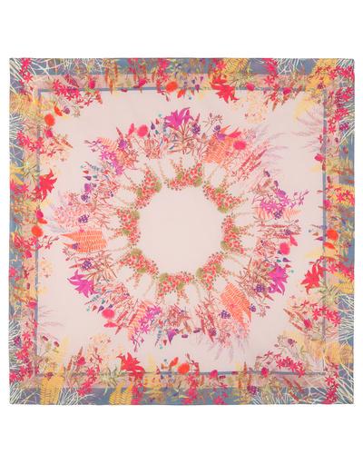 Cotton shawl ''Flower Roundelay''
