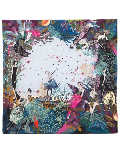 Silk shawl ''Flower fairies''