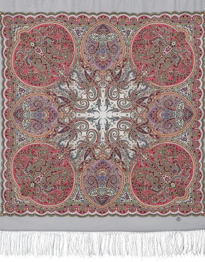 Wool shawl ''Night Serenade''