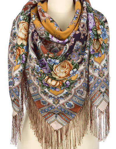 Wool shawl ''Mysterious Image''