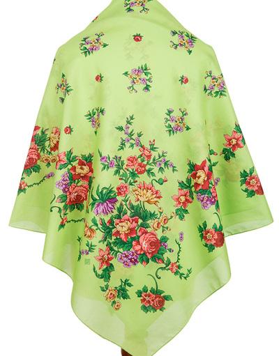 Cotton shawl ''Flower Necklace''