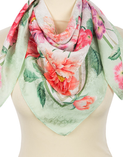 Silk shawl ''Spring in the Heart''