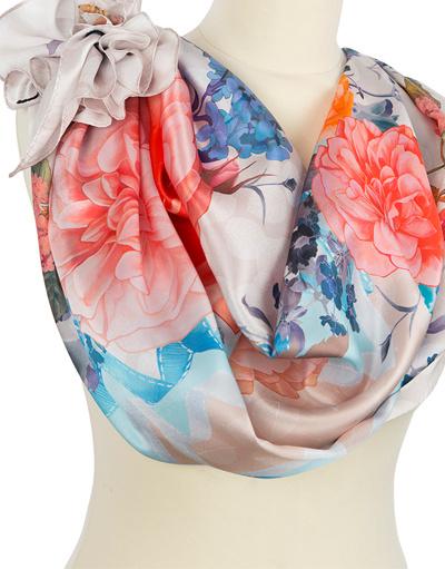 Silk shawl ''Flower Kaleidoscope''