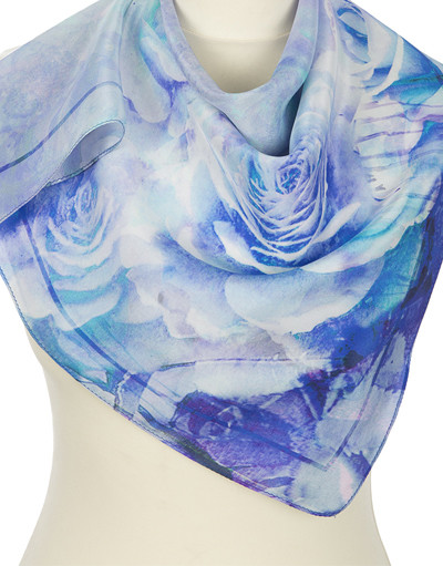 Silk scarf ''Growing roses''