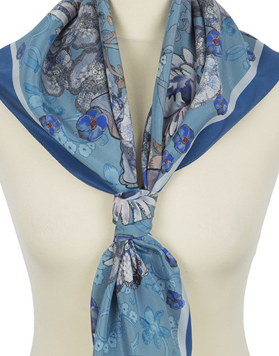 Silk shawl ''Blue rhapsody''