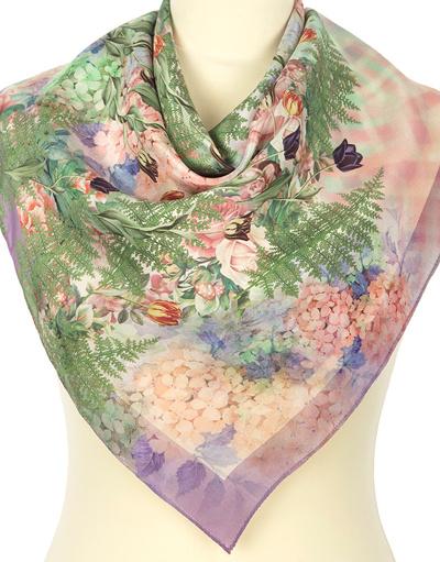 Silk scarf ''Fern''