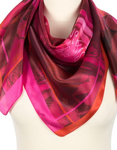 Silk shawl ''Peonies''