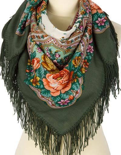 Pavlovo Posad wool shawl Russia ''Spring Dawns''