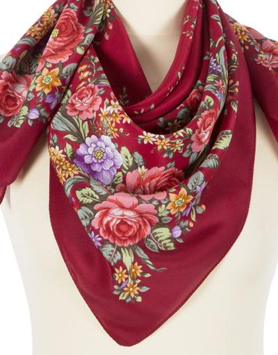 Châle et foulard russe en soie ''Flower Mood''