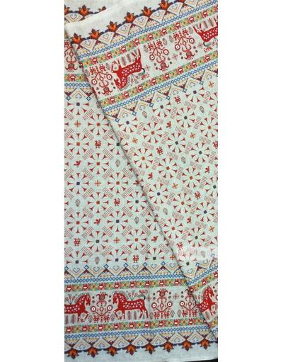 Horse print fabric by the yard ''Koniki On Grey''}
