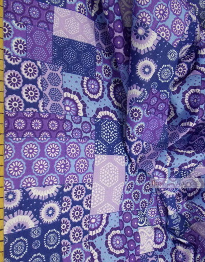 Fabric Folk Decorations by the yard ''Purple-Blue Flap''}