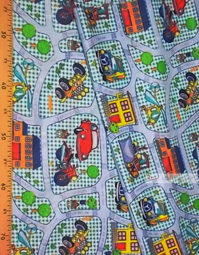 Childrens Fabric by the Yard Ткань-''City''}