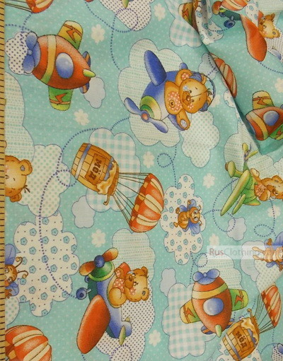 Tissu enfant au metre ''Bears In The Sky''}