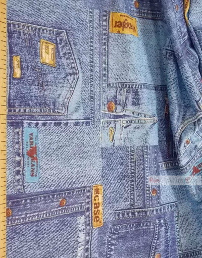 Vintage Fabric Prints by the yard ''Jeans''}