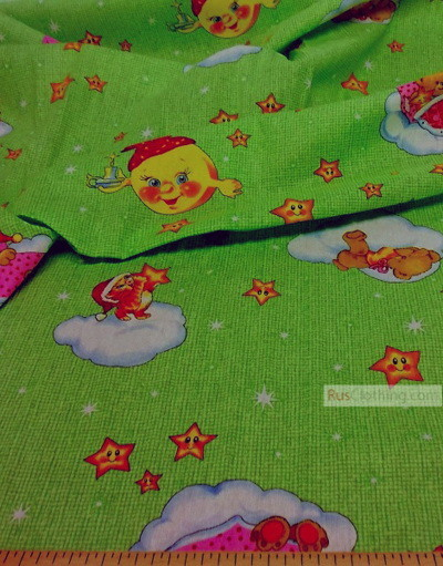 Tissu enfant au metre ''Children's Dreams, On The Salad''}