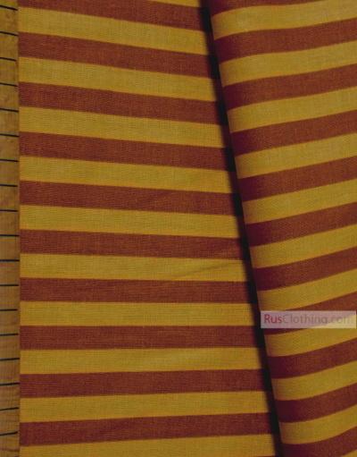Geometric Print Fabric ''Yellow-Brown Strip''}