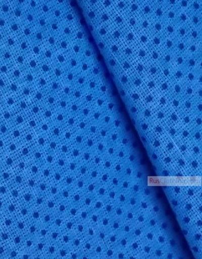 Folk Art Fabric by the yard ''Blue Polka-Dot On Blue''}