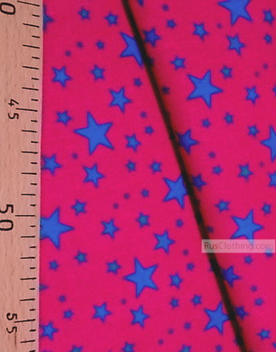Childrens Fabric by the Yard ''Blue Stars On Pink''}