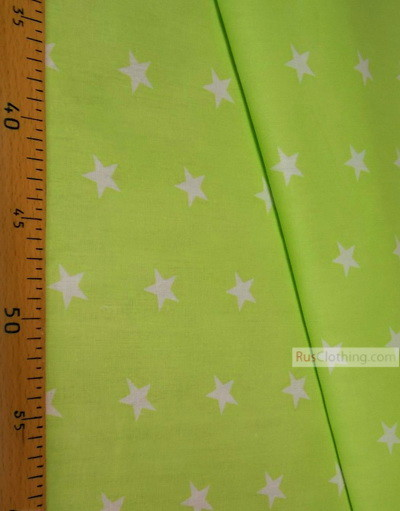 Baby Materials by the Yard ''White Star On Light Green''}