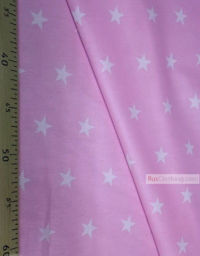 Tissu pour bébé au metre ''White Star On Light Purple''}