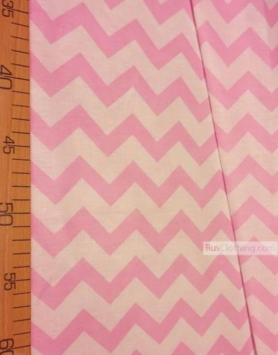 Textile enfant au metre ''White-Pink Zigzag''}