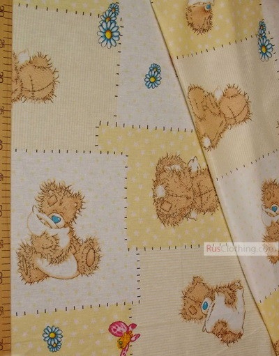 Textile enfant au metre ''Teddy Bear With Pillow''}