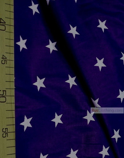 Nursery Fabric by the Yard ''White Star On Blue''}