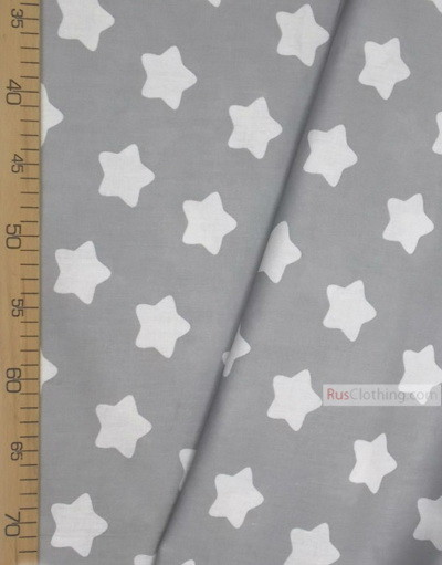 Baby Materials by the Yard ''White Star On The Gray''}