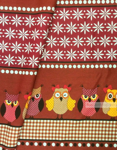 Kids Fabric by the Yard ''Large Scoops On Burgundy''}