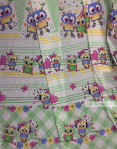 Childrens Fabric by the Yard ''Musical Owlets''}