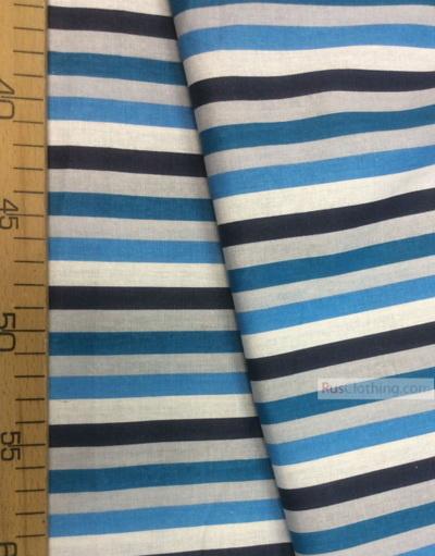 Geometric Print Fabric ''Blue-Blue Strip''}