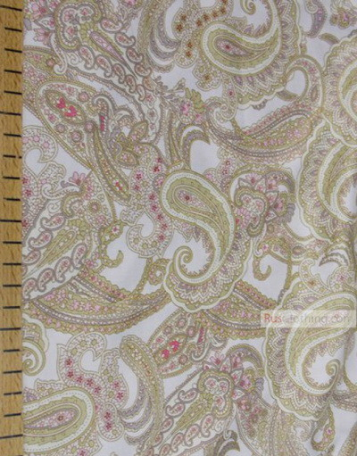 Paisley coton fabric by the yard ''Paisley''}