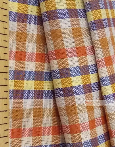 Linen fabric from Russia ''Plaid ''