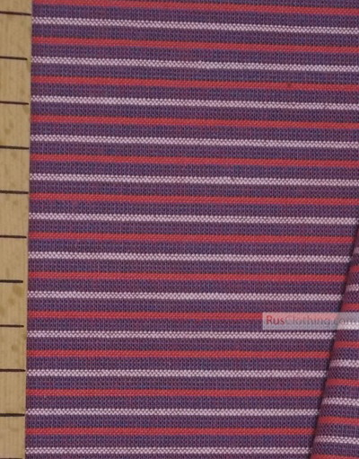 Geometric Print Fabric ''Red, White, Blue Strip''}