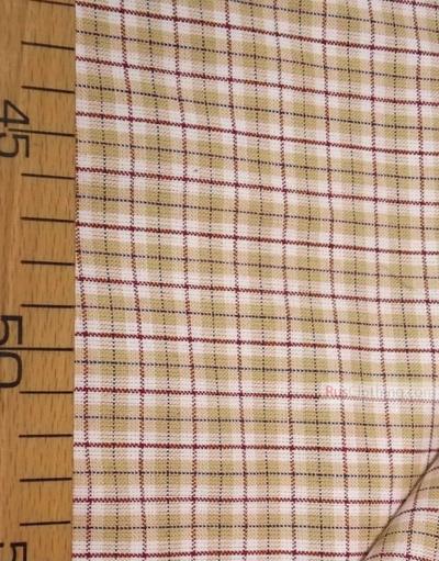 Tissu géométrique au metre''White-Beige Plaid''}