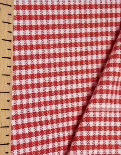 Tissu géométrique au metre ''Red And White Plaid''}