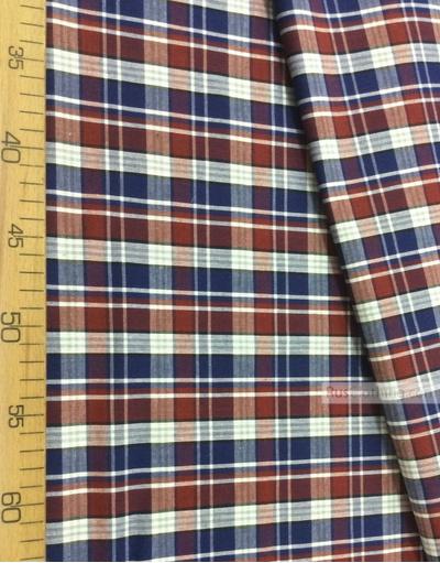Tissu géométrique au metre ''Red-Blue Plaid (Middle)''}