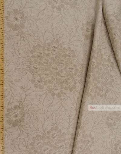 Lin Jacquard Français ''Flowers on gray''