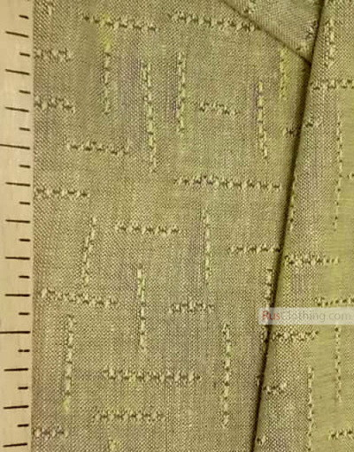 Lin Jacquard Français ''Maze on yellow melange''