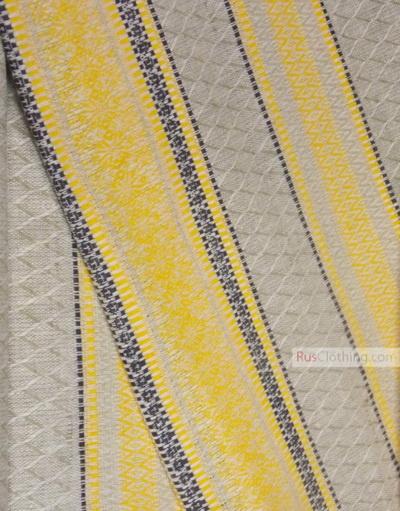 Linen Jacquard Fabric ''Folk Pattern ''