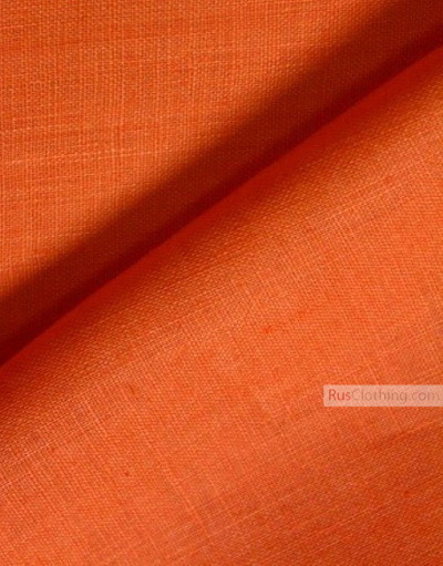 Linen fabric from Russia ''Orange ''