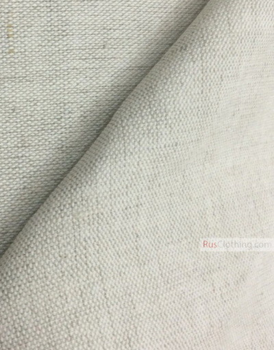 Linen fabric from Russia ''Light gray ''