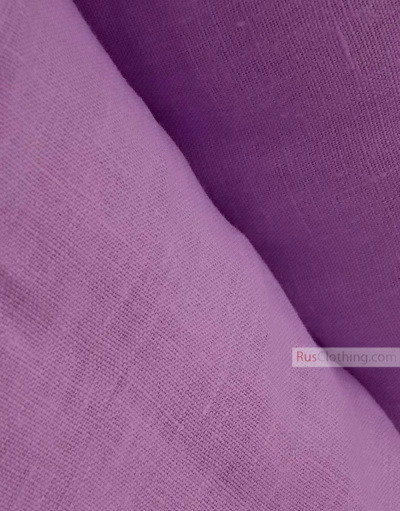 Linen fabric from Russia ''Lilac ''