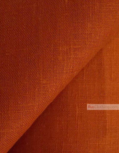 Linen fabric from Russia ''Terracotta ''