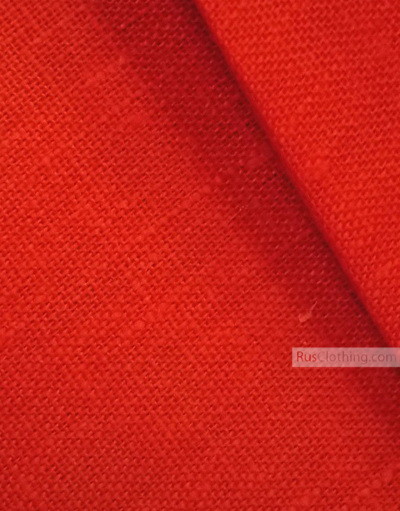 Linen fabric from Russia ''Red ''