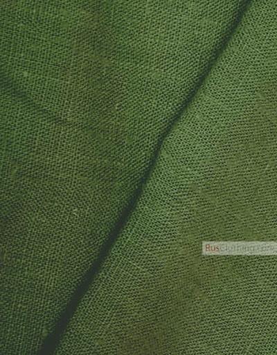 Linen fabric from Russia ''Dark Grass ''